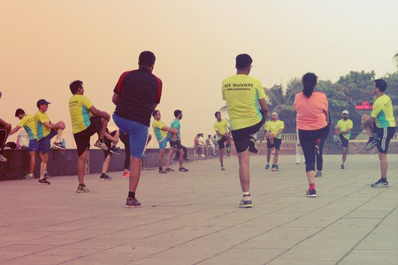 Marathon training at Mahalaxmi