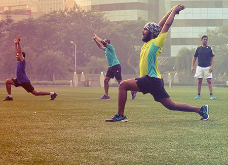 Marathon training in Thane